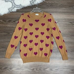 Wallace Heart Sweater Size Small